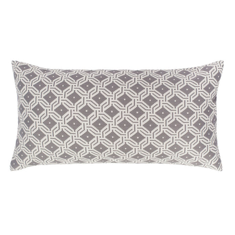 Bedroom inspiration and bedding decor | The Grey and White Diamond Circlet Throw Pillow | Crane and Canopy