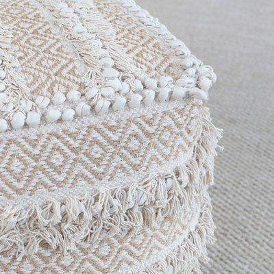 Bedroom inspiration and bedding decor | The Handwoven Diamond Fringe Trim Pouf Duvet Cover | Crane and Canopy