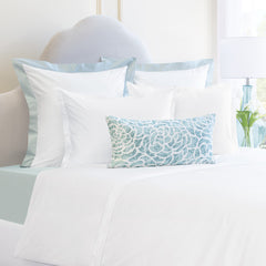 Bedroom inspiration and bedding decor | The Hayes Sierra Soft White | Crane and Canopy