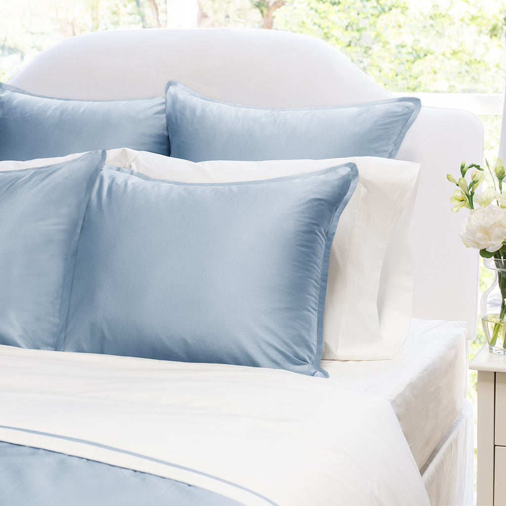 Bedroom inspiration and bedding decor | The Hayes Nova French Blue Duvet Cover | Crane and Canopy