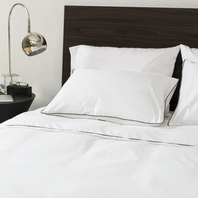 Soft White Hayes Nova Duvet Cover