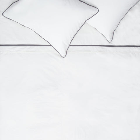 Bedroom inspiration and bedding decor | The Hayes Nova Soft White Duvet Cover | Crane and Canopy