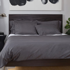 Bedroom inspiration and bedding decor | The Hayes Nova Charcoal Grey | Crane and Canopy
