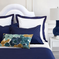 Bedroom inspiration and bedding decor | The Hayes Nova Navy Blue | Crane and Canopy