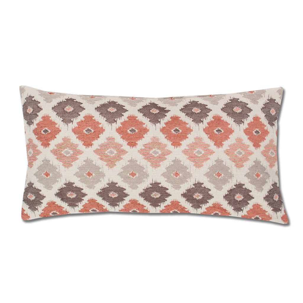 The Coral And Brown Flowers Throw Pillow Crane Canopy