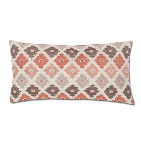 Bedroom inspiration and bedding decor | The Coral and Brown Flowers Throw Pillow | Crane and Canopy