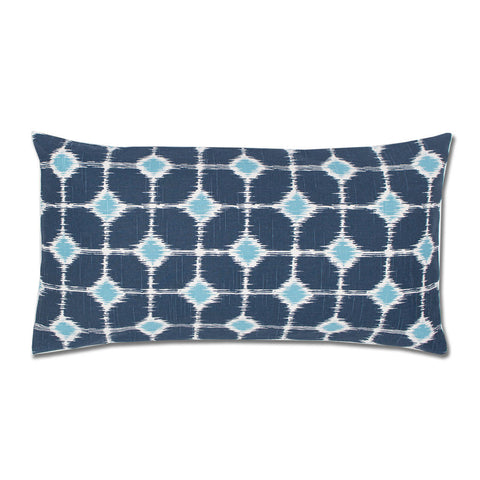 Bedroom inspiration and bedding decor | The Blue and White Ikat Diamonds Throw Pillow | Crane and Canopy