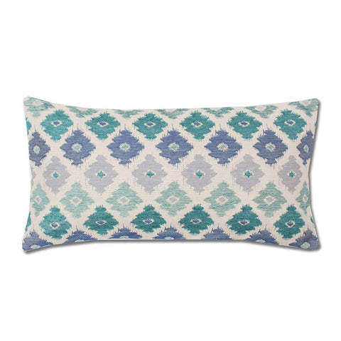 The Teal Flowers Throw Pillow