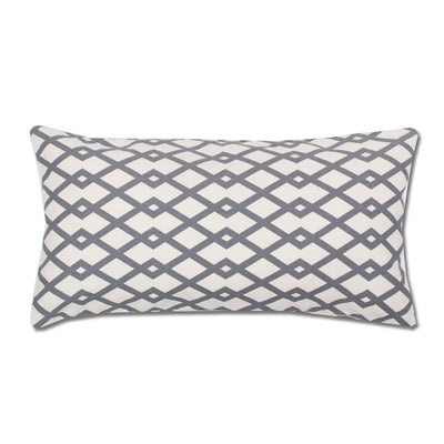 Grey Geometric Throw Pillow