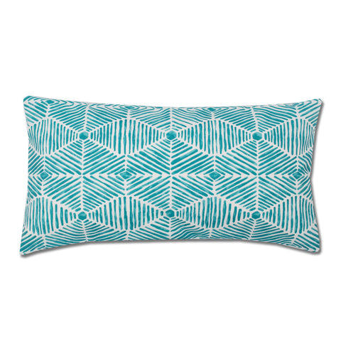 Bedroom inspiration and bedding decor | The Teal Tropics Throw Pillow | Crane and Canopy