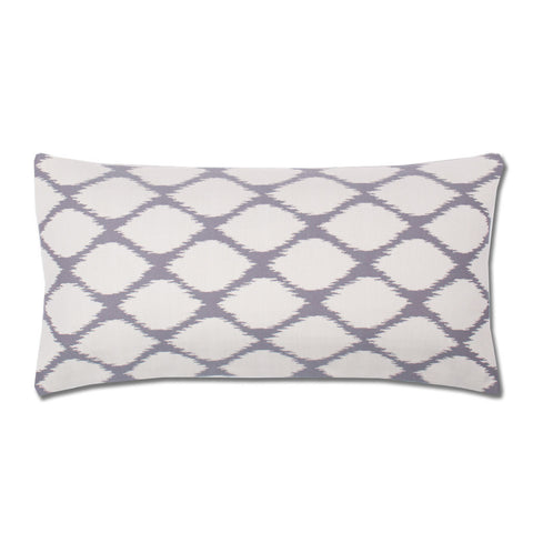 The Grey and White Raindrop Throw Pillow