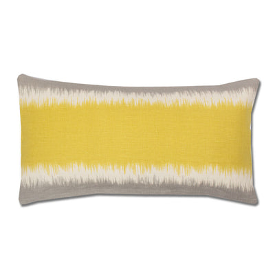Yellow and Grey Rhythm Throw Pillow