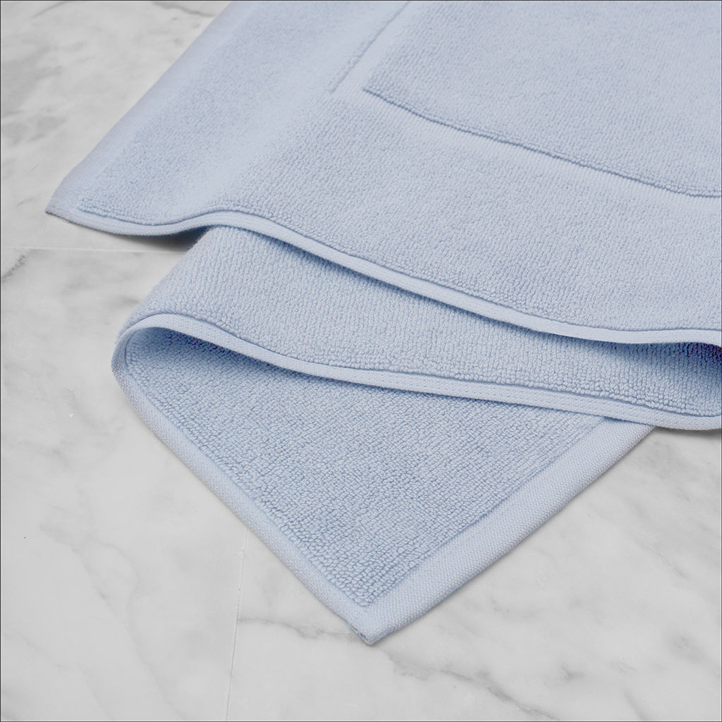 Bedroom inspiration and bedding decor | The Ice Blue Bath Mat Duvet Cover | Crane and Canopy