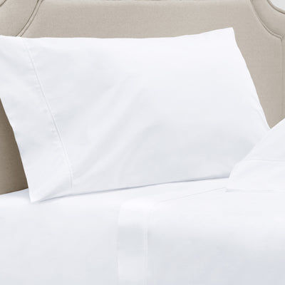 Bright White 400 Thread Count Percale Cotton Pillow Case