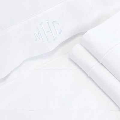 Bedroom inspiration and bedding decor | Bright White 400 Thread Count Percale Cotton Sheet Set (Fitted, Flat, & Pillow Cases)s | Crane and Canopy