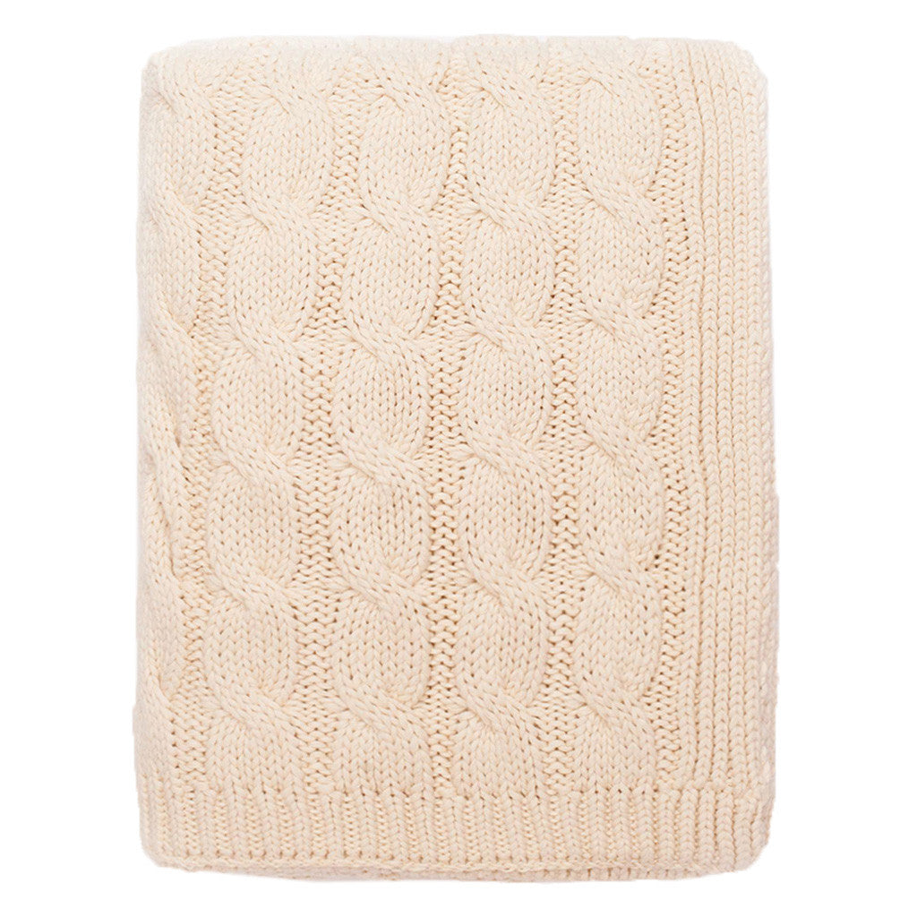 Bedroom inspiration and bedding decor | The Ivory Large Cable Knit Throw | Crane and Canopy