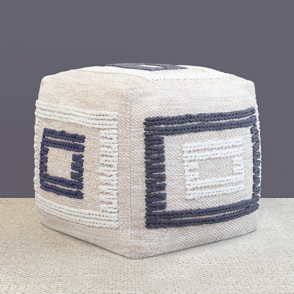 Bedroom inspiration and bedding decor | The Knitted Braided Box Pouf Duvet Cover | Crane and Canopy