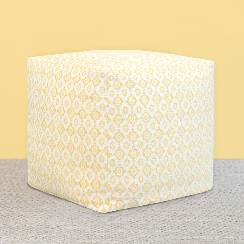 Bedroom inspiration and bedding decor | The Knitted Ikat Diamonds Pouf Duvet Cover | Crane and Canopy