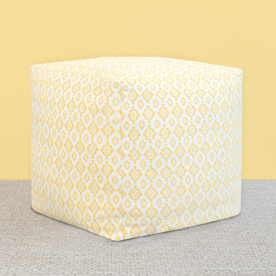 The Knitted Ikat Diamonds Pouf