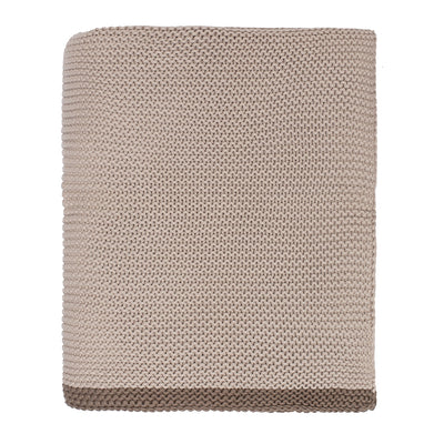The Beige Knotted Trim Throw Blanket