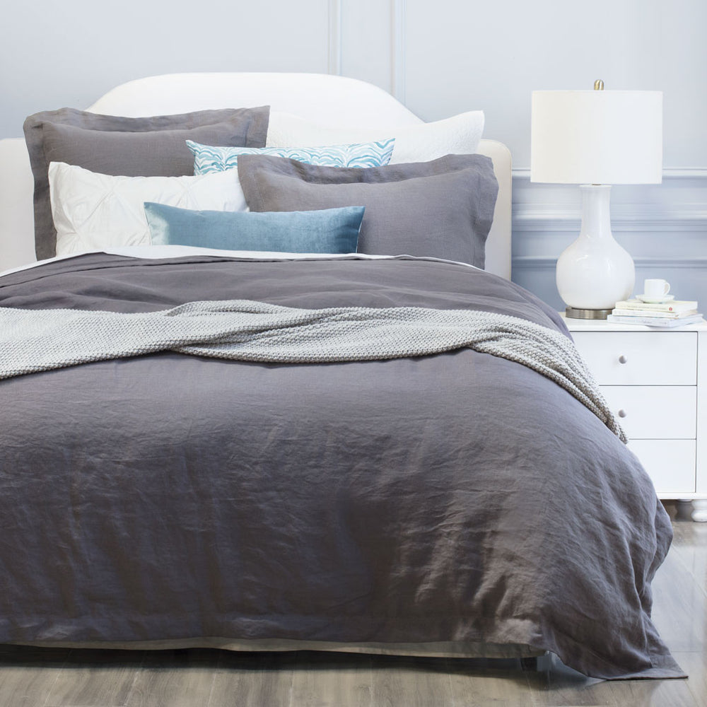 715a153119f1 The Lane Grey Linen Duvet Cover Bedroom inspiration and bedding ...