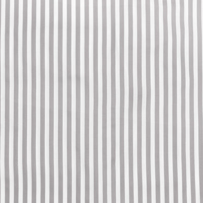 Grey Striped Fitted Sheet
