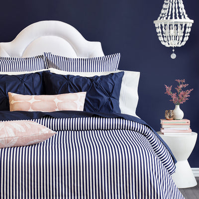 Bedroom inspiration and bedding decor | The Larkin Navy Blue Duvet Cover | Crane and Canopy