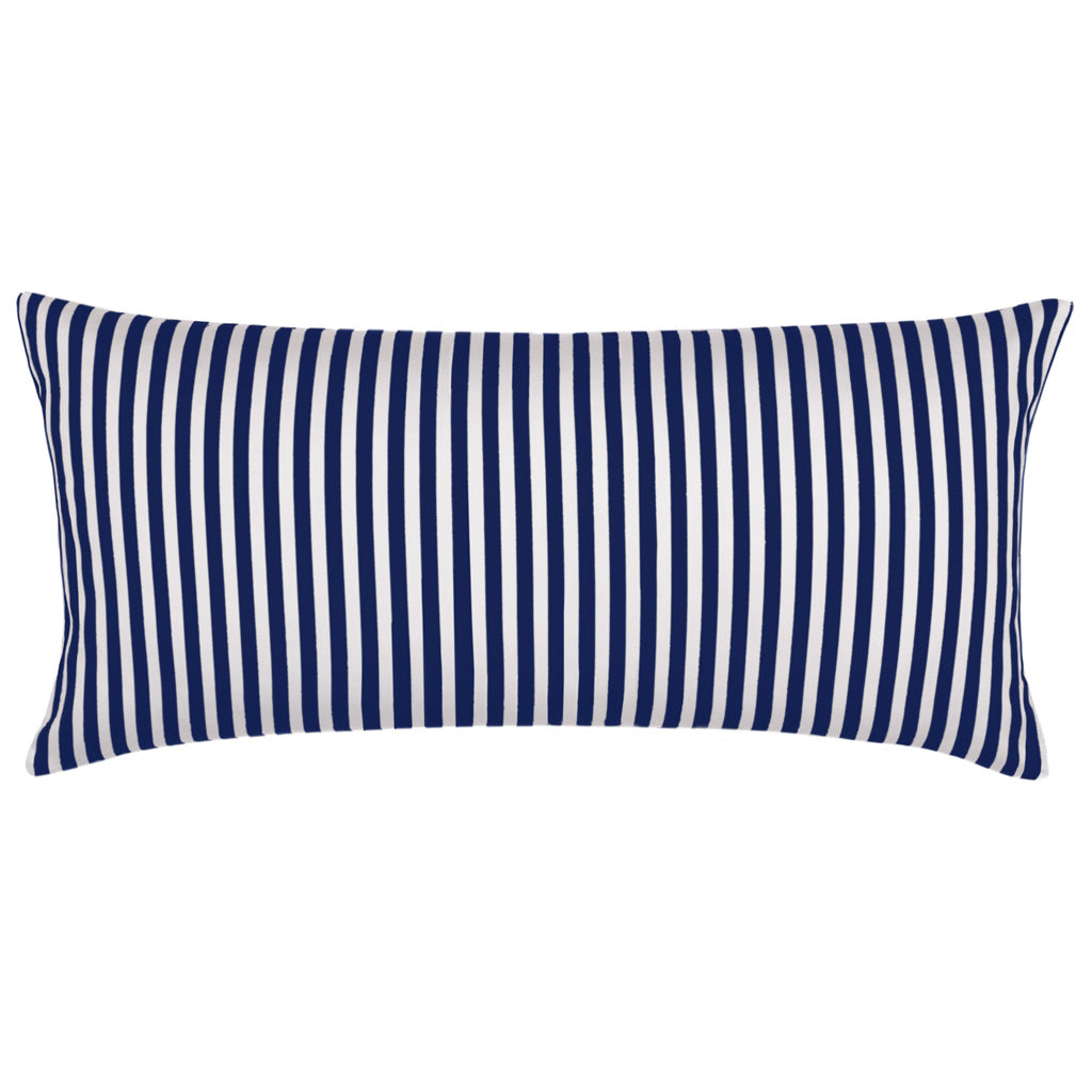 The Navy Blue Striped Throw Pillow Crane Canopy