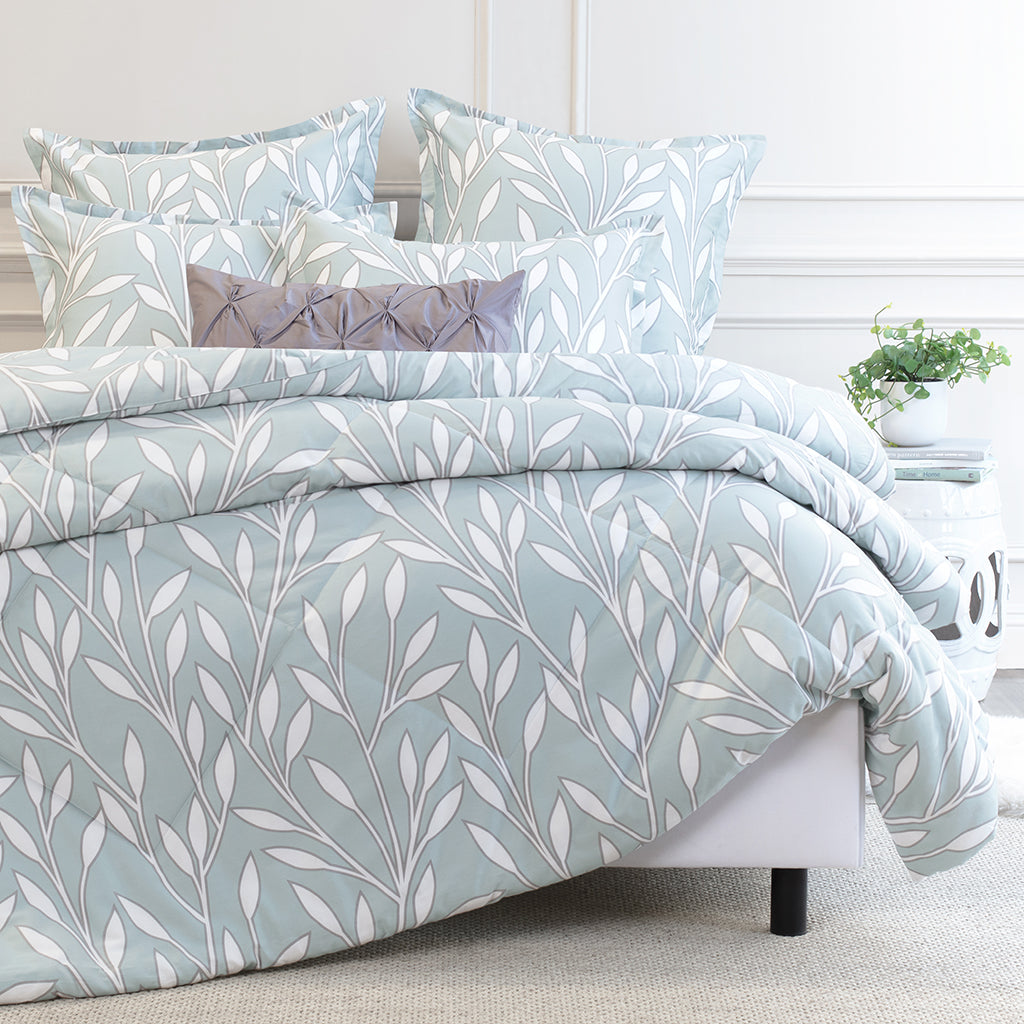 Bedroom inspiration and bedding decor | The Laurel Green Comforter Duvet Cover | Crane and Canopy