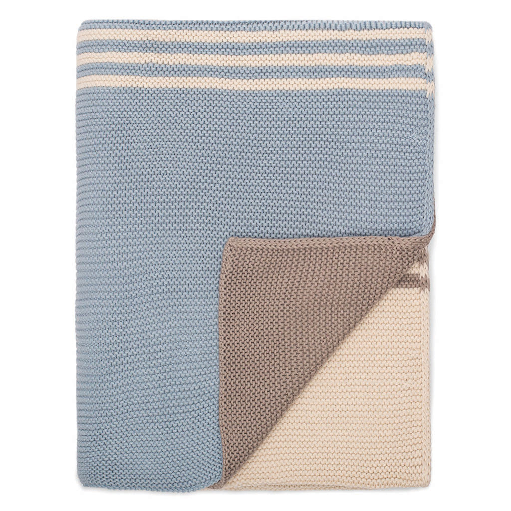 Bedroom inspiration and bedding decor | The Light Blue and Grey Striped Throw | Crane and Canopy