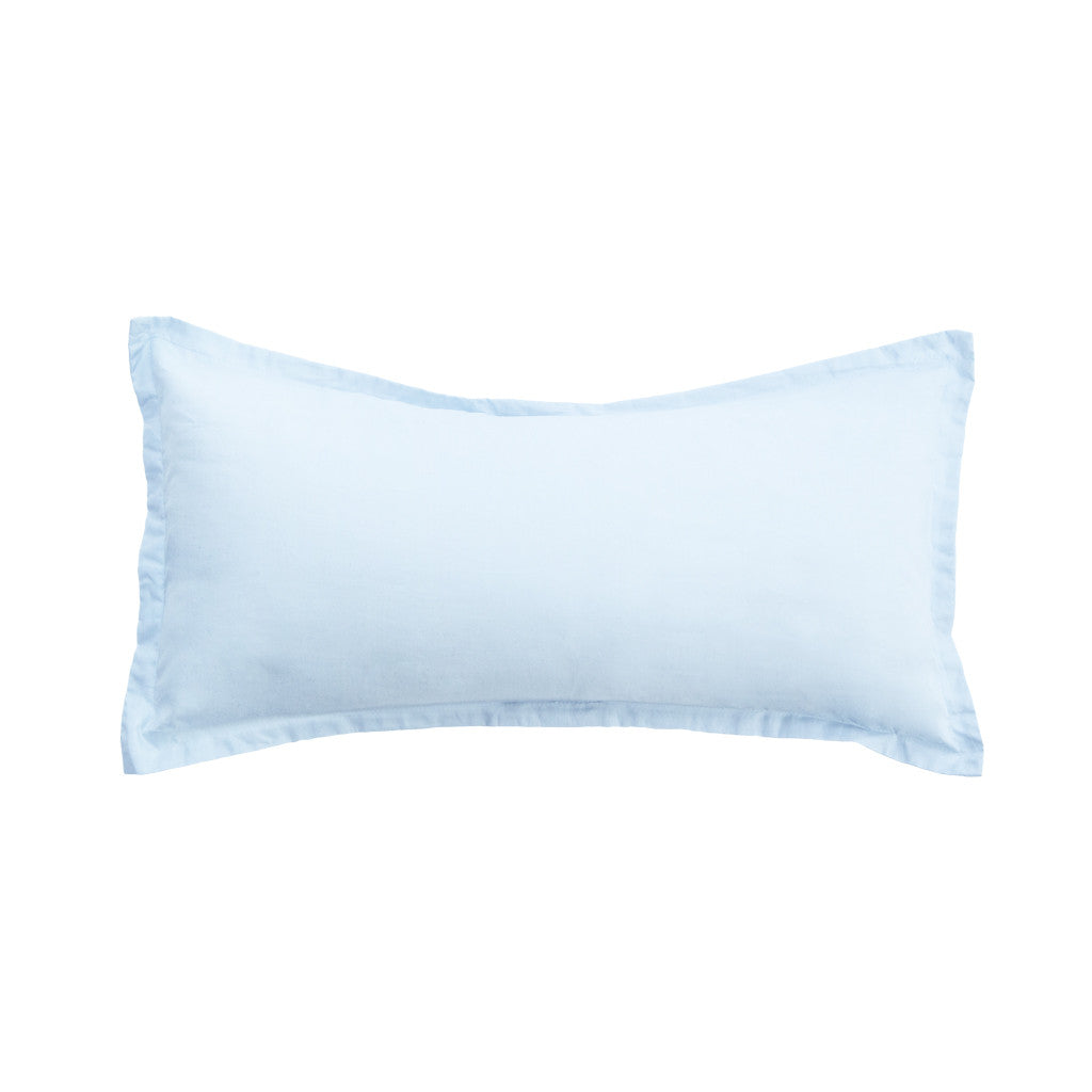 The Light Blue Solid Linden Throw Pillow Crane Canopy