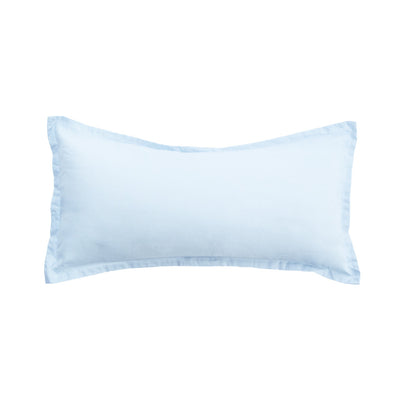 Light Blue Solid Linden Throw Pillow
