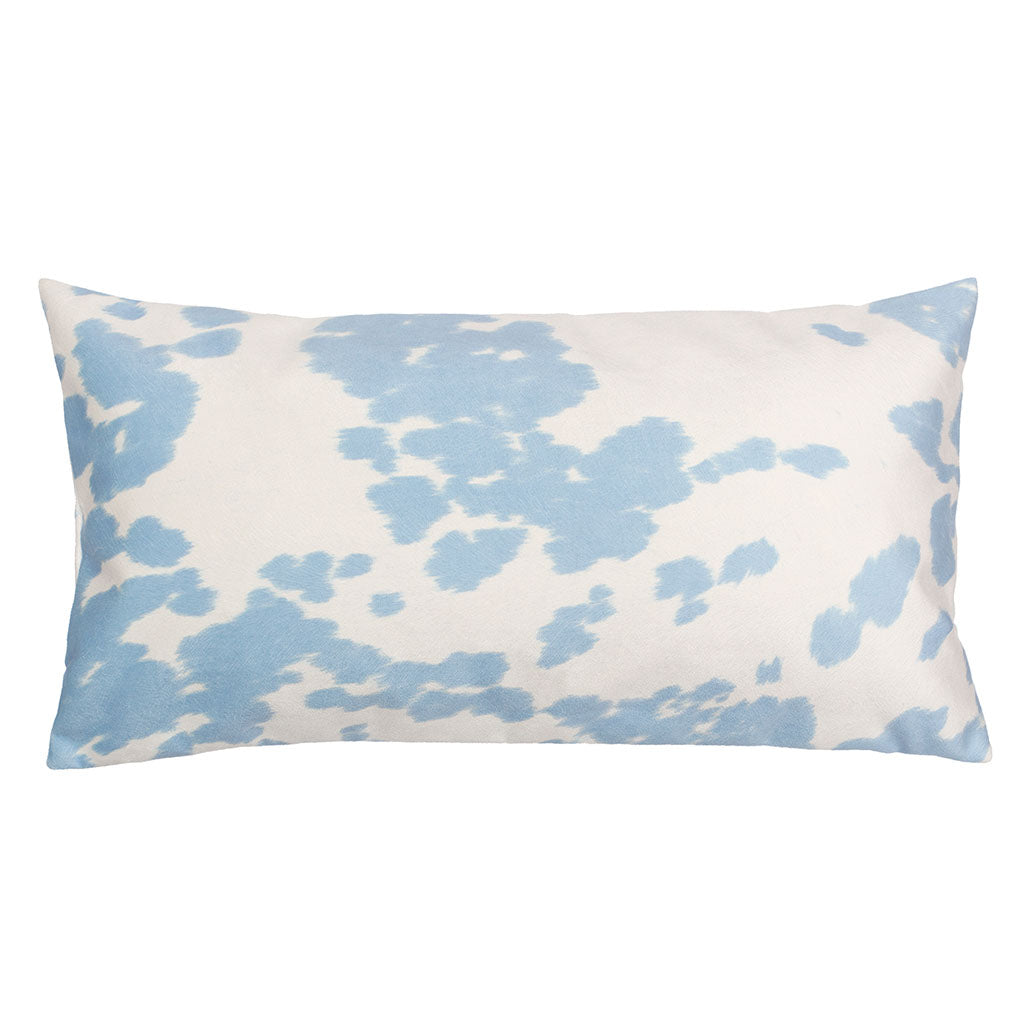 Bedroom inspiration and bedding decor | The Light Blue Cowhide Throw Pillows | Crane and Canopy