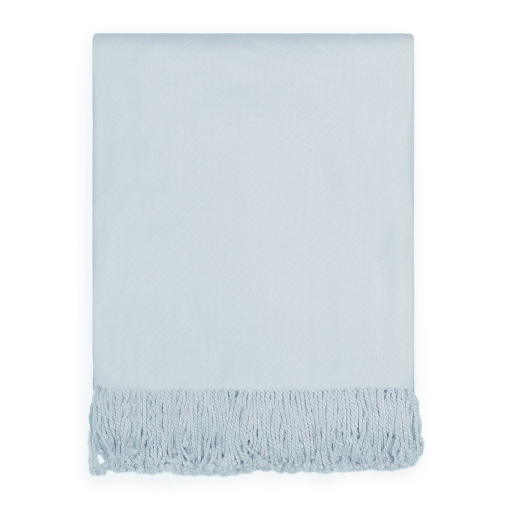 Bedroom inspiration and bedding decor | The Light Blue Fringed Throw Blanket Duvet Cover | Crane and Canopy