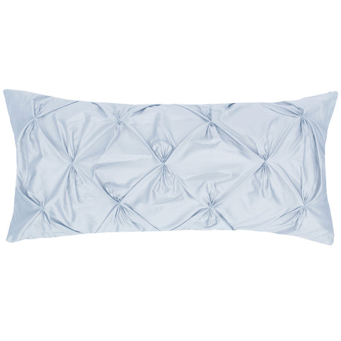 Light Blue Pintuck Throw Pillow