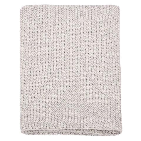 The Light Grey Knotted Throw