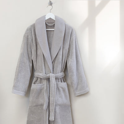 Bedroom inspiration and bedding decor | The Light Grey Plush Cotton Bathrobe Duvet Cover | Crane and Canopy