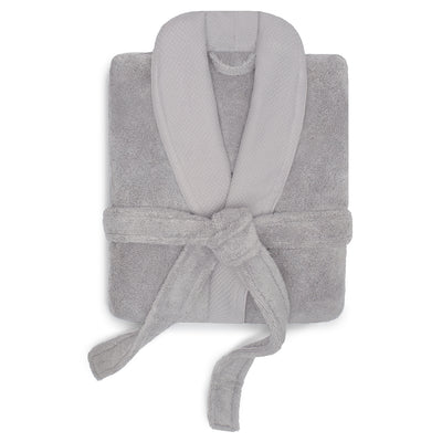 Light Grey Plush Cotton Bathrobe