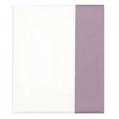 Lilac Purple Border Flat Sheet