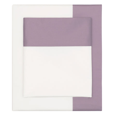 Bedroom inspiration and bedding decor | The Lilac Purple Border Sheet Set | Crane and Canopy