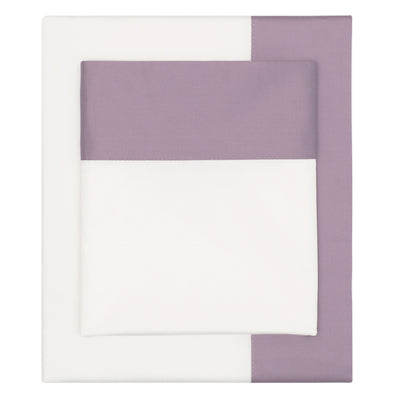 Lilac Purple Border Sheet Set 1 (Fitted, Flat, & Pillow Cases)
