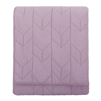 The Chevron Lilac Purple Quilt & Sham