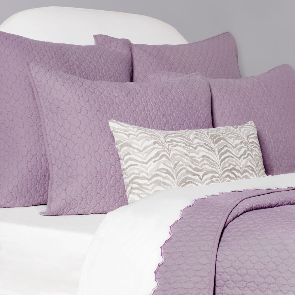 Bedroom inspiration and bedding decor | The Cloud Lilac Purple Quilt & Sham Duvet Cover | Crane and Canopy