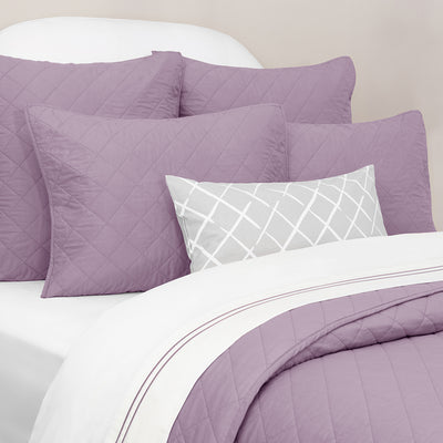 Bedroom inspiration and bedding decor | The Diamond Lilac Quilt & Sham Duvet Cover | Crane and Canopy