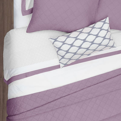 Bedroom inspiration and bedding decor | Lilac Diamond Quilt Duvet Cover | Crane and Canopy