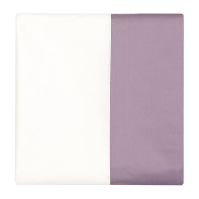 Lilac Purple Border Pillow Case