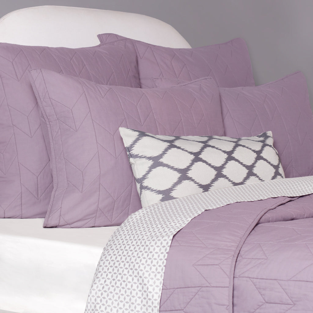 Bedroom inspiration and bedding decor | The Chevron Lilac Purple Quilt & Sham Duvet Cover | Crane and Canopy
