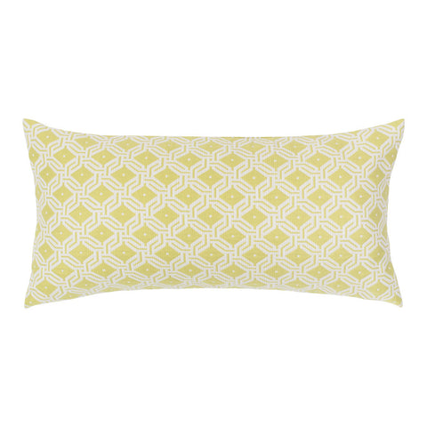 The Lime and White Diamond Circlet Throw Pillow
