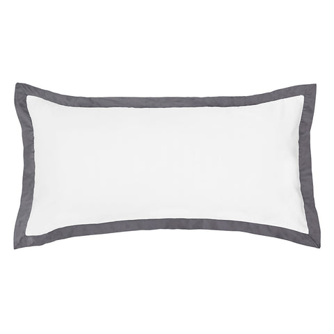 Charcoal Grey Linden Throw Pillow