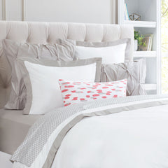 Bedroom inspiration and bedding decor | The Linden Dove Grey Border | Crane and Canopy